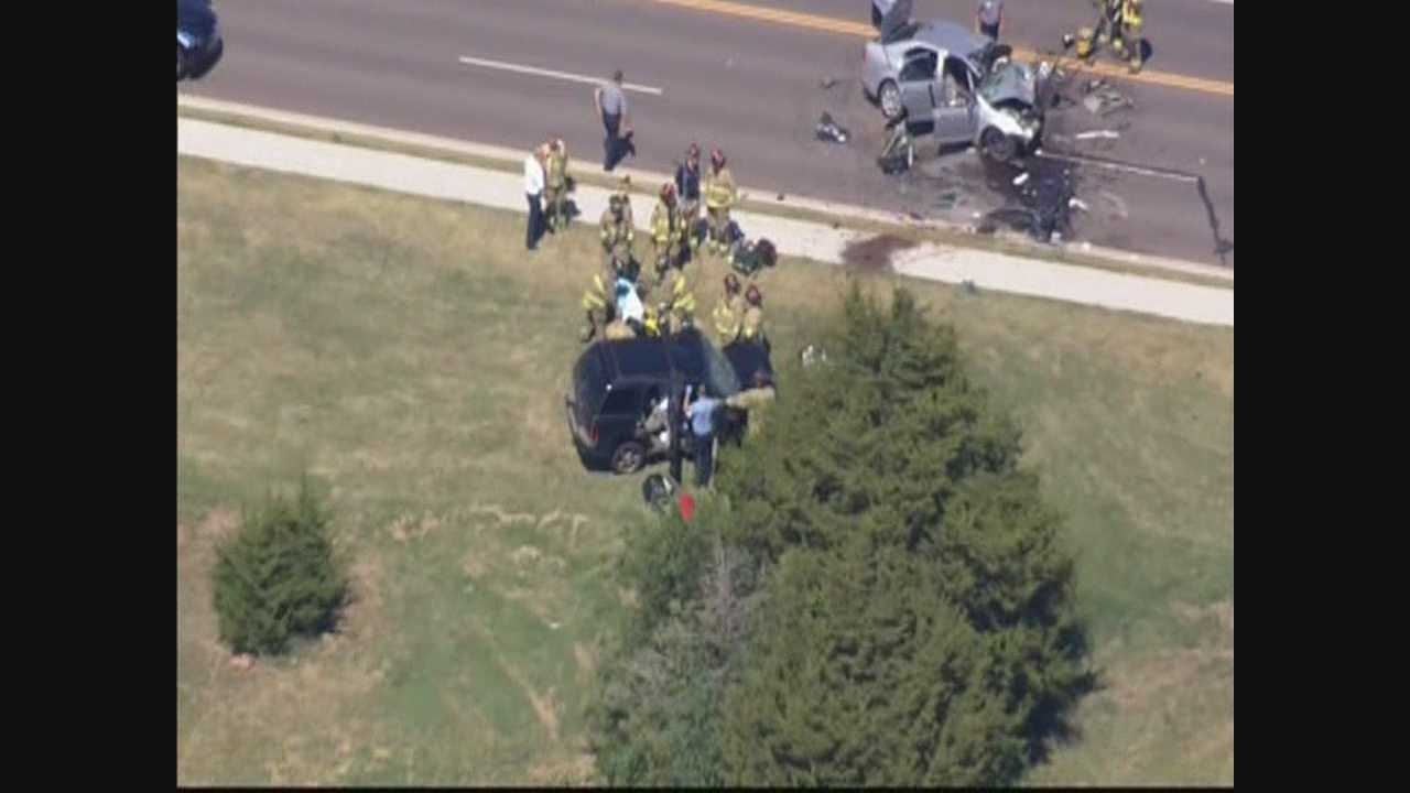 At least two people were injured in head-on crash in NW Oklahoma City Tuesday, firefighters say.