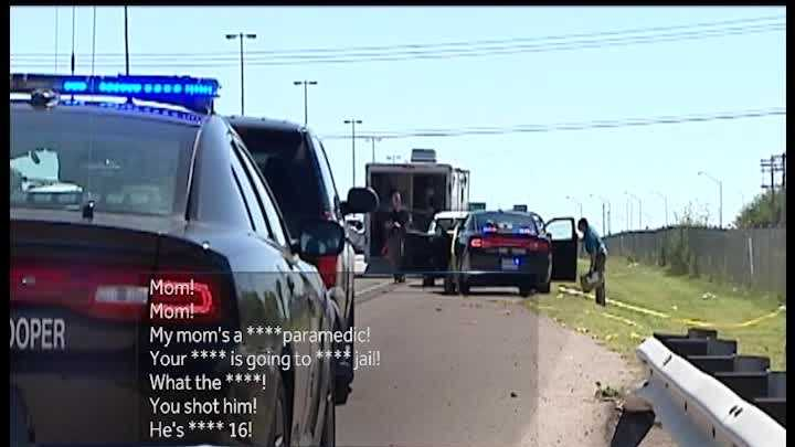 Witnesses recorded cell phone audio of a trooper-involved shooting in September. The trooper shot a teen after an alleged scuffle between the two.