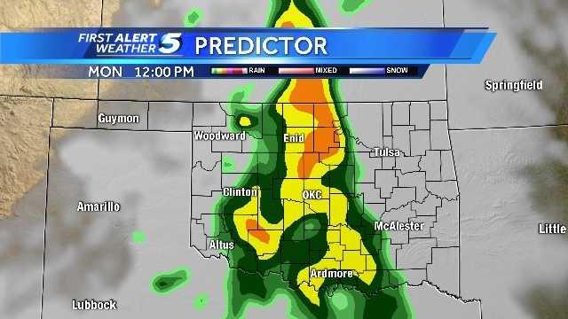 Monday Predictor weather