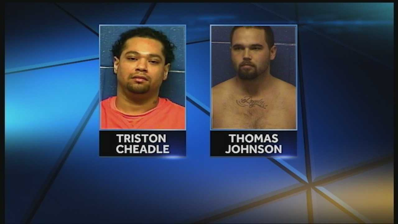 Two of the four Caddo County inmates that escaped Sunday are back behind bars, but two more are still being sought.