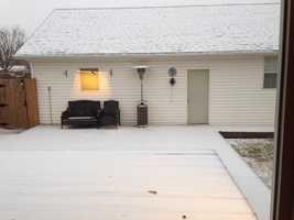 Snow in Chickasha - Photo by Pam McKissak