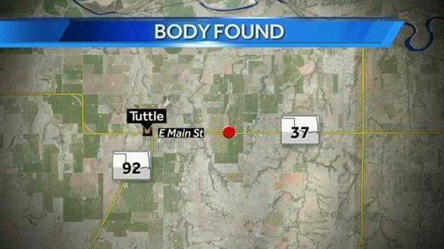 The Grady County Sheriff's office says a body was found just south of Highway 37 near Tuttle.