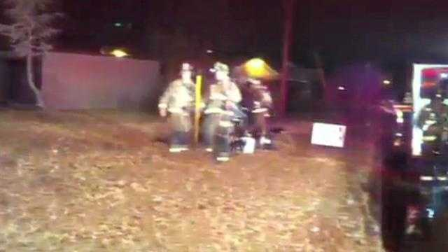 Raw Video: Vacant home catches fire again