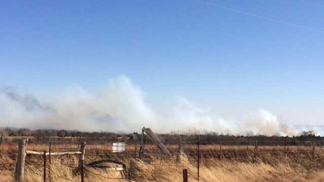 Canadian County grass fire.