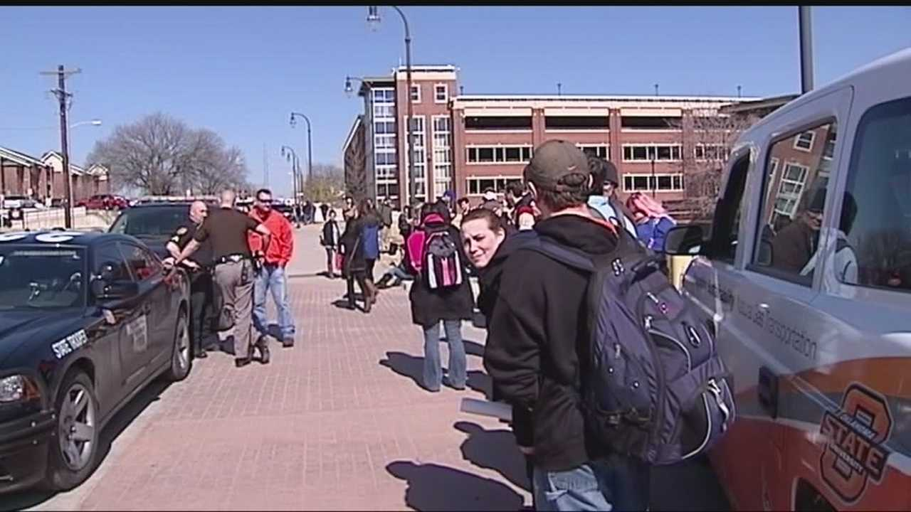 Investigators are looking for the person responsible for a Thursday bomb threat at Oklahoma State University.