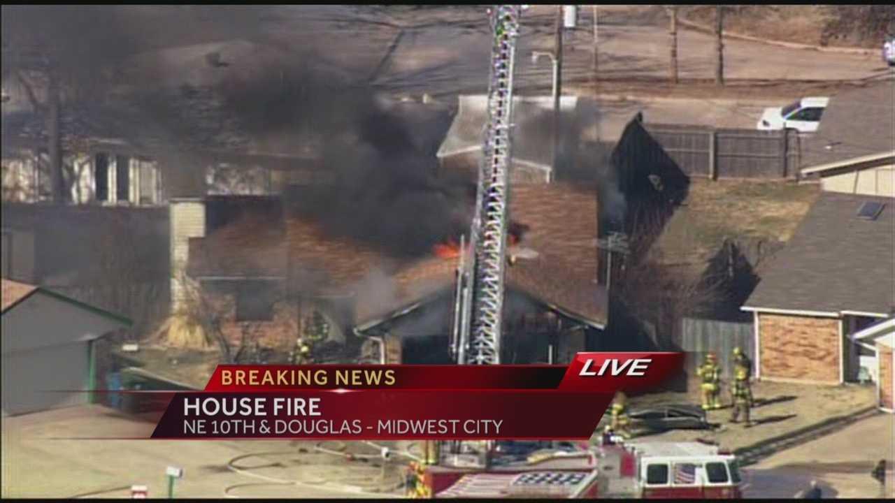 Midwest City home ablaze