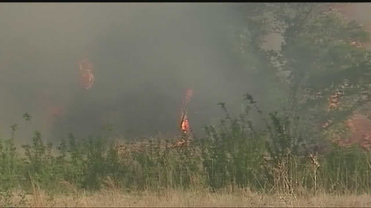 Did the Logan County wildfire start as a 'controlled burn'?