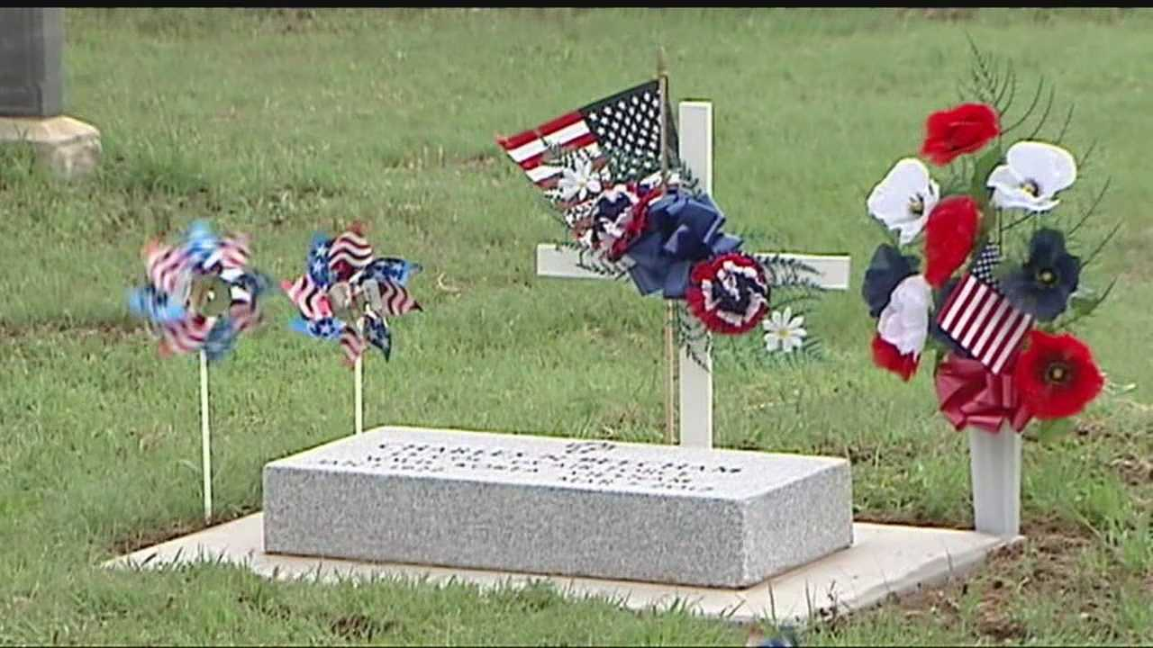 "A small group called ""Warriors for Freedom"" a charity, went to the Beecham cemetary in El Reno, to visit those lost and help clean up their plots."