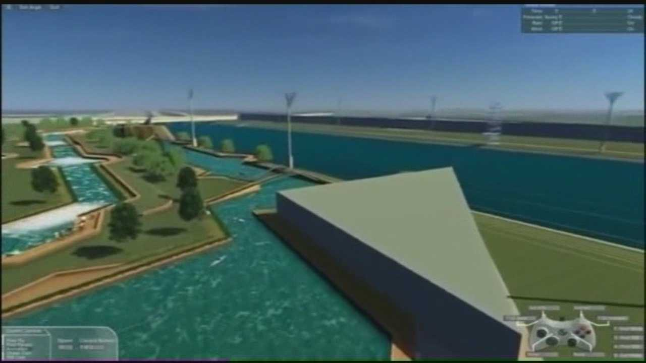 A white water park is in development for downtown.