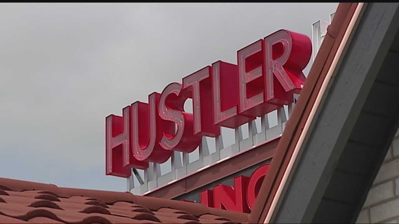 Hustler Hollywood has several mannequins on display, that may or may not be catching drivers attention.