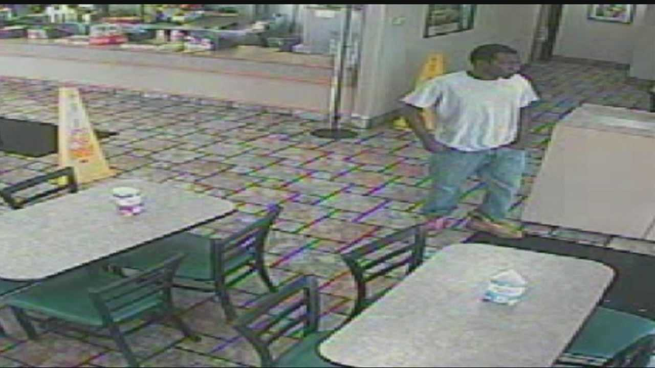 Police look for a man responsible for a robbery at a northwest Oklahoma City Arby's.