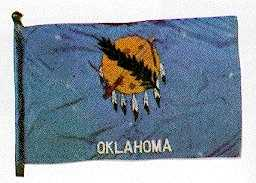 State Flag: Oklahoma State Flag adopted by the State Legislature in 1925, is Oklahoma's 14th flag.