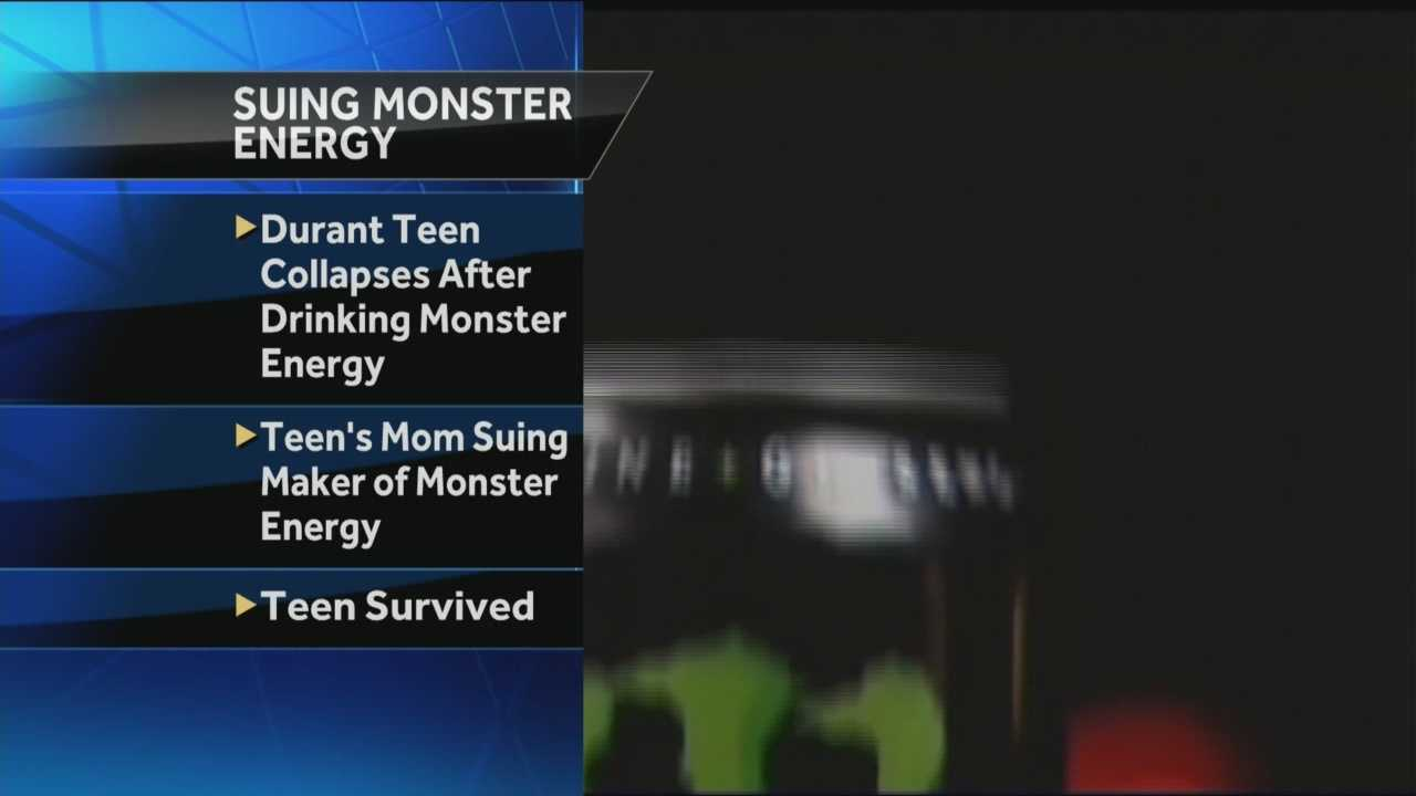 A Durant mother is suing the makers of energy drink over claims that her son collapsed after consuming the drink.