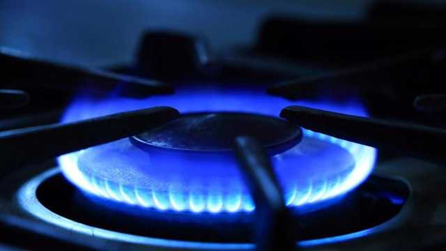 Natural Gas Stove Blue Flame