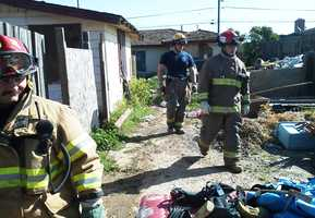 Wednesday morning, a fire gutted a vacant house in Greenfield.  Although no one was supposed to be living there, witnesses said they saw squatters run out of the building when the fire started.  (April 4, 2012)