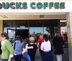 """Diane Willingham, of Salinas, was standing in line to order a drink when two customers directly behind her were hit by the SUV. """"I had just took a step forward when I heard a horrendous noise,"""" Willingham said. """"I wasn't sure what it was, but I knew it was hitting us. It sounded like a freight train, actually."""""""