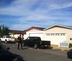 According to police, Bautista was drunk as he attempted to park this truck on the 1600 block of Chico Way in North Salinas. He immediately fled on foot, leaving the toddler pinned under the truck's back tire.Bautista ran for more than a mile before he darted inside a restaurant to hide. An hour-long police standoff ensued as he hid under a bathroom sink.