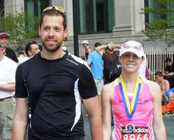 Stephanie Kern and Alek Kokoszka began Sunday's marathon as single and finished it as husband and wife.