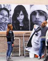 "The public art installation is titled, ""Student Portraits of Peace in Our Streets... You Only Live Once."""
