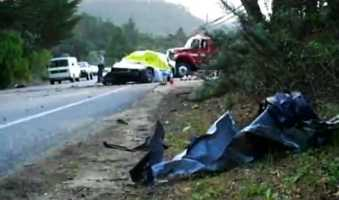 Driver James Steinmetz, 49, of Sacramento, died here on Highway 1. Garcia had minor injuries. (Jan. 19, 2011)