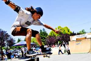 Adam Emery, of Modesto, won the Santa Cruz Boardroom Skate Contest in Capitola on Saturday.About 70 skaters competed in the contest, which had a top cash prize of $1,000.(July 21, 2012 / Photo by Chris Elmenhurst)