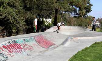 The unique skate ramp was designed in 1974 by Ken Wormhoudt and opened in 1976.