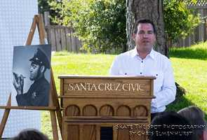 """Santa CruzCouncilman David Terrazas said Derby, """"Invested his life in this community. I think it's important we recognize him for his work and making Santa Cruz a safe place for kids."""""""