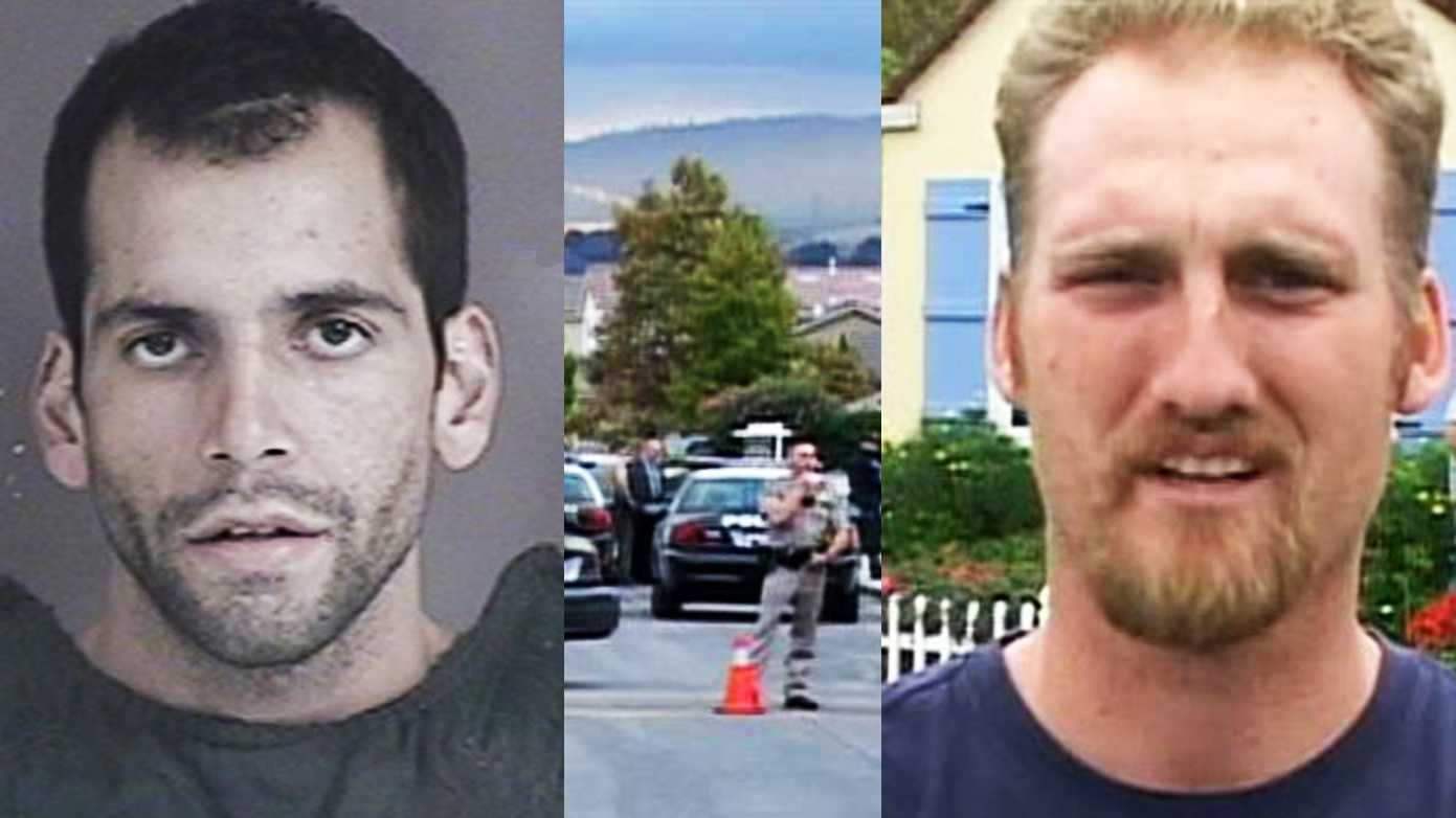 David Jose Quiroz, left, is accused of murdering the wife of Grady Carroll, right.