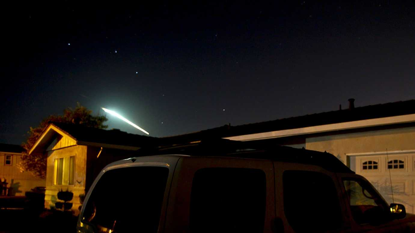 Ralph Marbach shot this photo of a meteor while he was standing outside his Salinas home on Oct. 17, 2012.