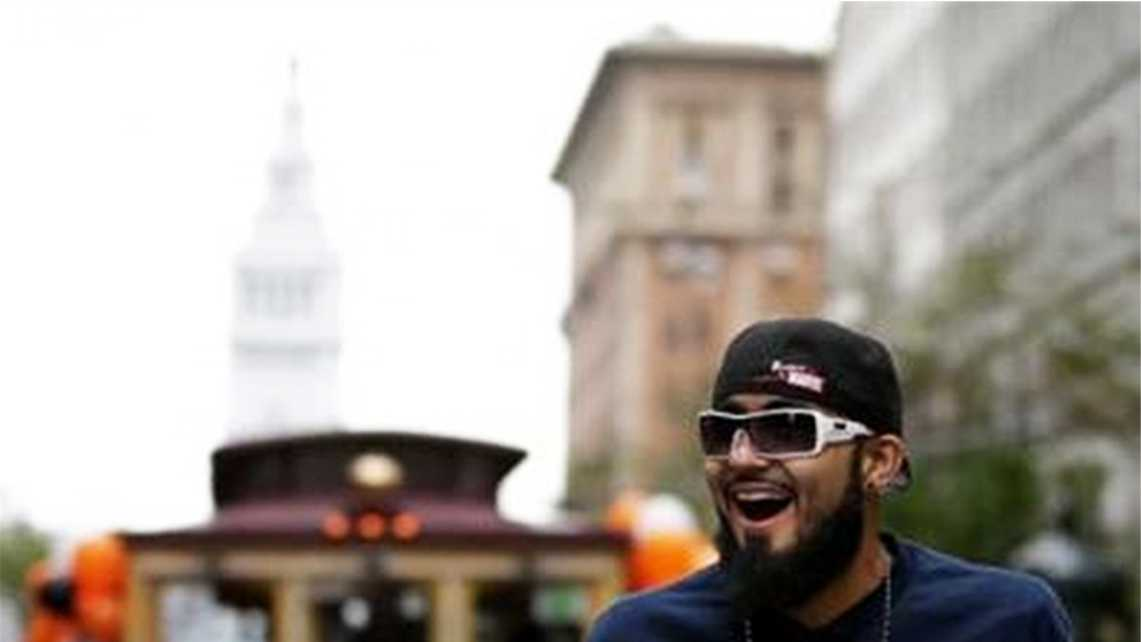 Giants pitcher Sergio Romo whipped the roaring crowd into a frenzy with his energy.