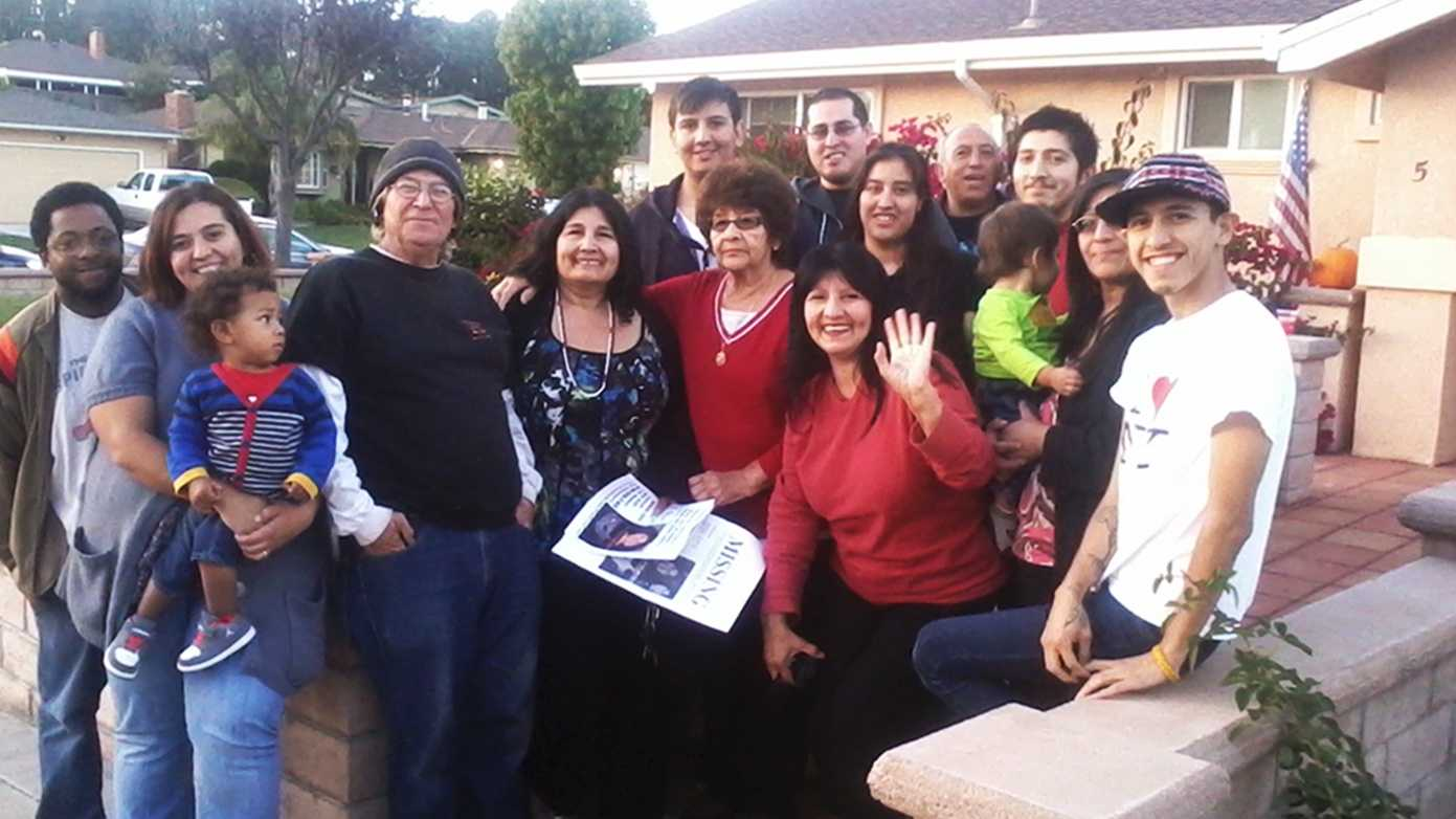 Irene Cantu, center, is seen smiling with her family on Wednesday.