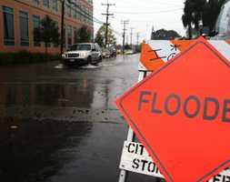 Capitola Street in Salinas was covered in rain. (Nov. 30, 2012)