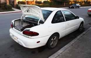 On Nov. 23, Soto's husband, Ismael Contreras, called the Salinas Police Department to file a missing person report.Contreras said he found his wife's car (seen here) abandoned and unlocked on Garner Avenue in Salinas.