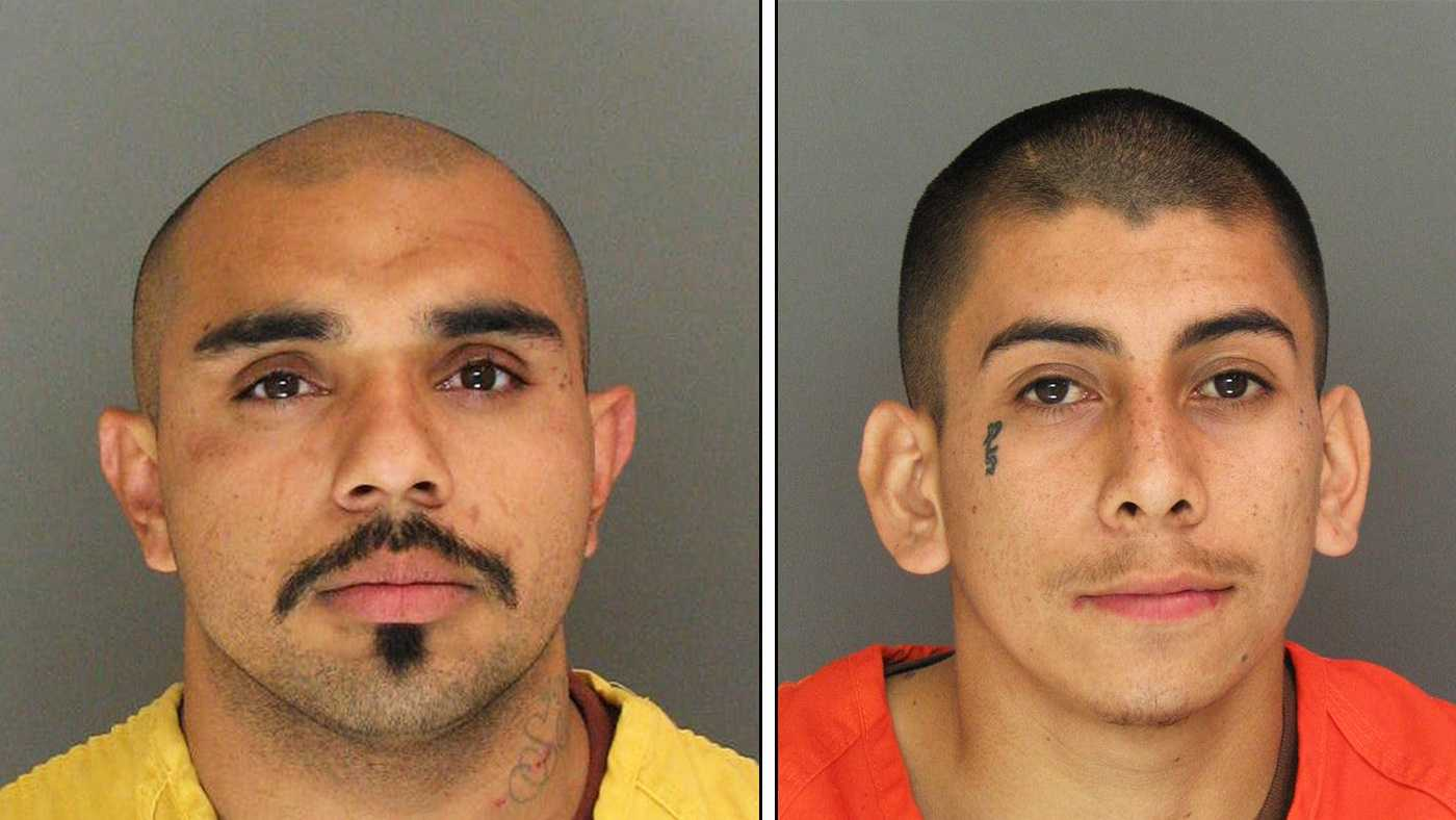 Michael Gonzalez, left, and David Sanchez, right, are seen in police mug shots.