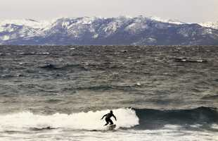 #3: Surfing Lake TahoeA very chilly surfer catches a wave on Lake Tahoe in December. The water was 37 degrees and waves were created by a storm in the Sierra Nevada mountains. Photo by surfski73Click here to share your photos on ulocal