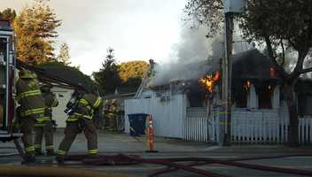 #7: Monterey Fire Department in actionA fire guts a house in Monterey in this photo shot by ulocal user conrad.