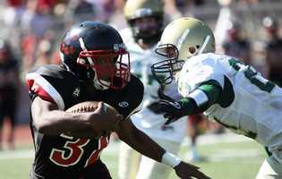 #13: SLV vs. Harbor footballSan Lorenzo Valley battles Harbor High School in this photo byFirenzi.