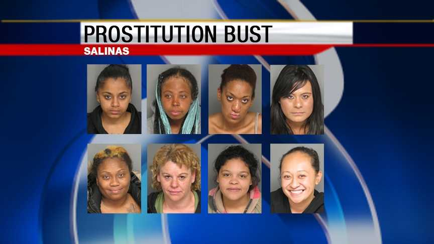 Eight people were arrested Friday in prostitution bust.