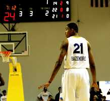 Jan. 1, 2013: Guard Kent Bazemore inspired the loudest roars from his home crowd as he dominated on both offense and defense. Bazemore's game-high 21 points helped his team defeat the Sioux Falls Skyforce, 109-93.