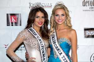 Miss California USA 2013 poses with Miss Teen California USA 2013.