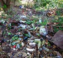 This drug waste and trash was found near Kirby High School on Feb. 10, 2013.