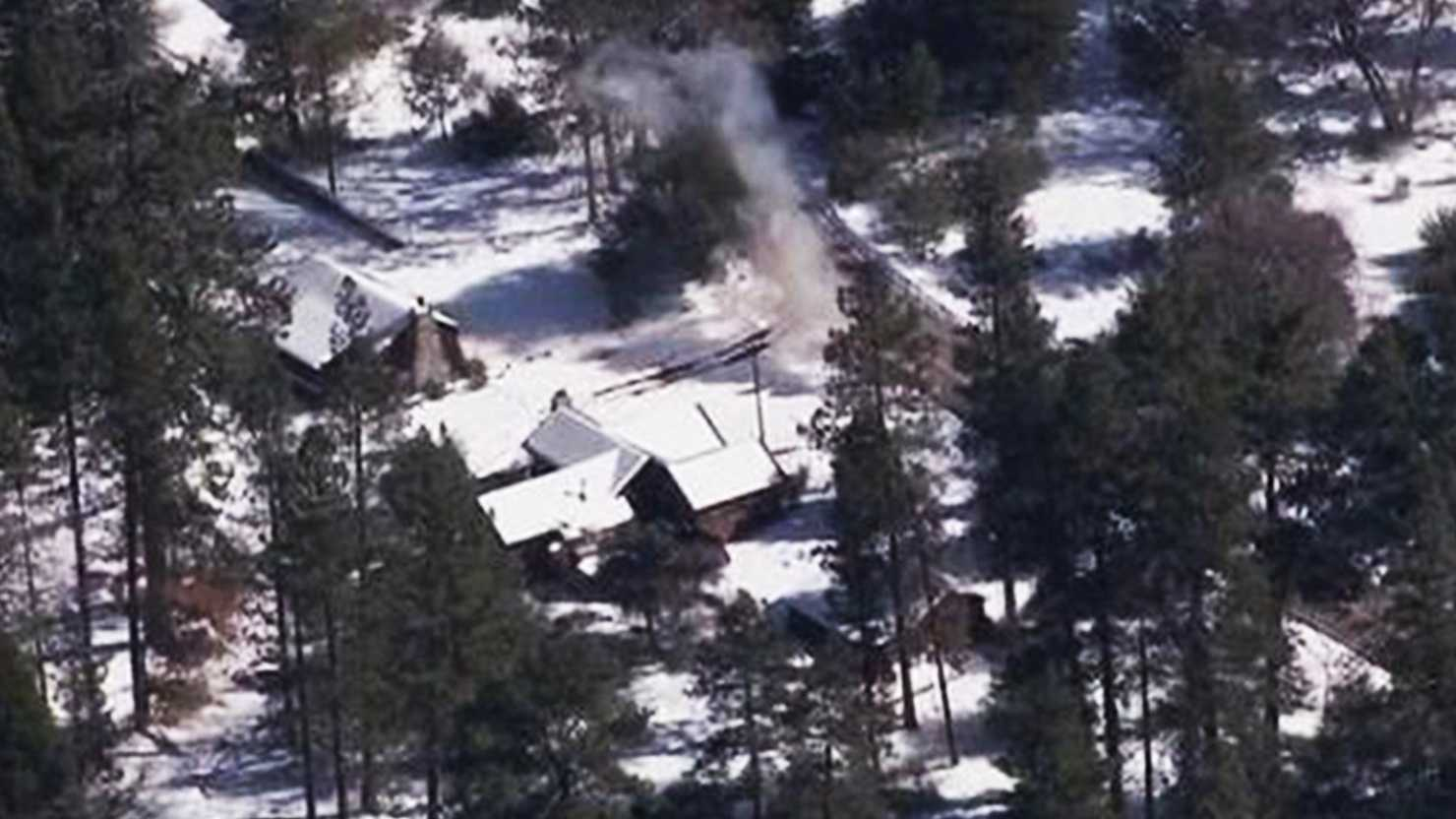 Christopher Dorner is barricaded in this cabin in Big Bear.