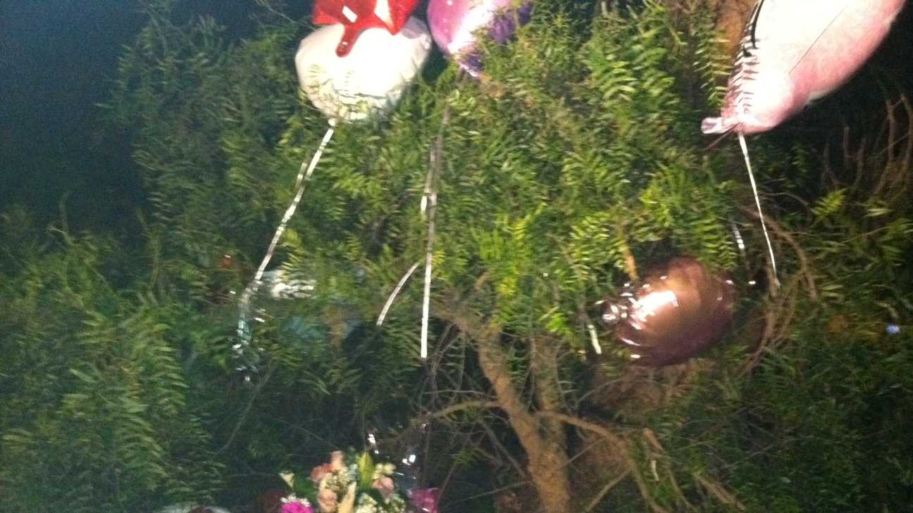 Mourners have created a memorial forAngelle Jenisis Negron.