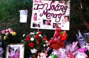 Castroville residents made a memorial at the base of a tree where the baby's body was found just outside Salinas on Highway 183 under the Davis Road overpass. (Feb. 20, 2013)
