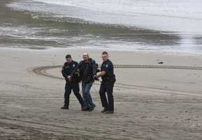 The three soggy suspects were booked into the San Mateo County Jail. Photo by Frank Quirarte / Mavsurfer.com