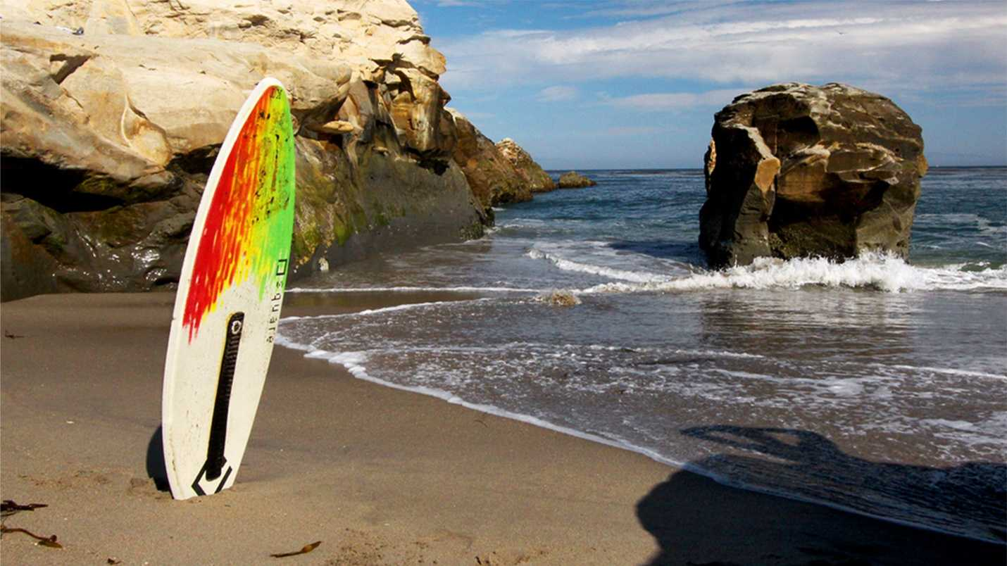 Surfers and skimboarders walking barefoot on West Cliff Drive beaches in Santa Cruz can find drug needles in the sand. (Photo byJL Photography & Design)