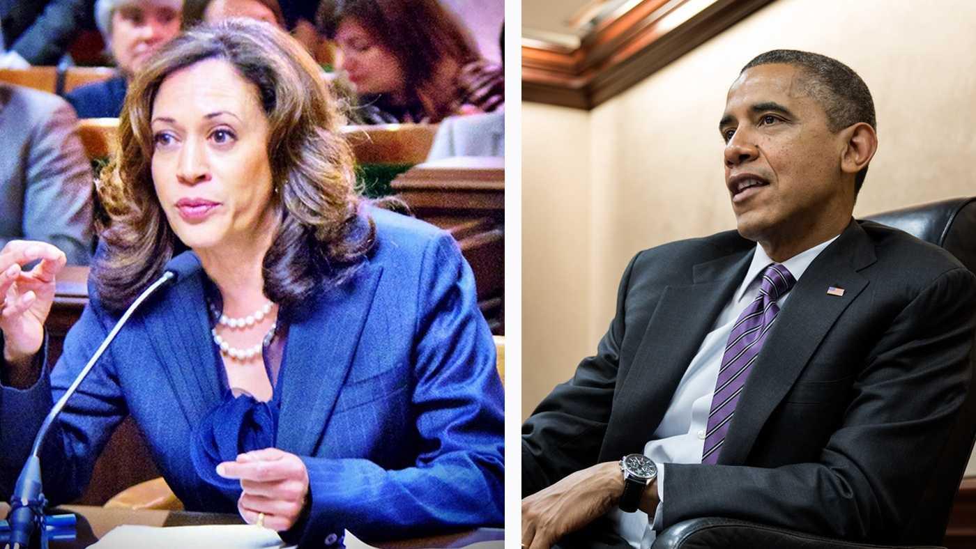 Kamala Harris and Barack Obama