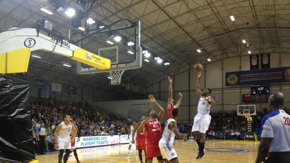 The Santa Cruz Warriors played their final home game of the season in the D-League Championship finals at the Kaiser Permanente Arena Thursday night.
