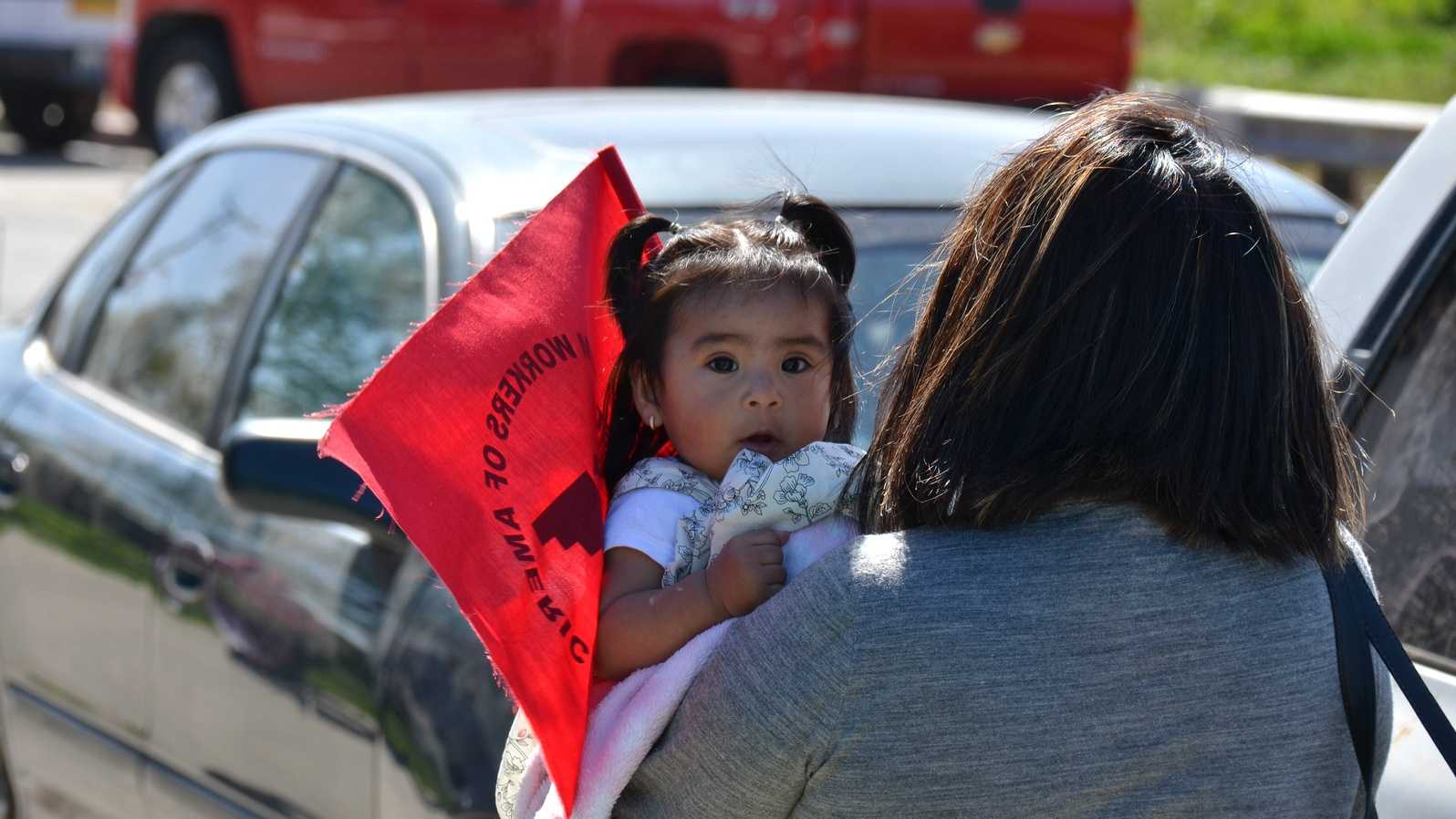 United Farm Worker demonstrators in Salinas demand comprehensive reforms to U.S. immigration laws. (March 2013)
