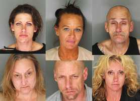 "Seven thieves took advantage of a wheelchair-bound homeowner to use his Santa Cruz house as a base for abusing drugs, selling drugs, and stealing bicycles, police said.Santa Cruz Police Detectives served a search warrant at a home in the 400 block of La Fonda Avenue Thursday. The homeowner is a 59-year-old adult who is wheelchair-bound, has severe disabilities, and requires a caregiver. Officers found the homeowner lying in his own urine and feces, and he was transported to a hospital.""Individuals staying at the residence were taking advantage of the homeowner. Numerous people were coming and going from the house and using the home as a base to conduct criminal activity. The individuals failed to provide the most basic of care for the dependent homeowner,"" Deputy Chief Steve Clark said.Clark said five people who were living at the house were arrested on elder abuse charges: Shana DiMartino, 37, Sharon Husted, 49, John Dowden, 52, Adelma Dowden, 48, and Aaron Hamrick, 37. Two more people who were hanging out at the house, Jodi Widman, 30, and Perry Brown, 42, were also arrested. Widman was in possession of methamphetamine and heroin, and she resisted arrest, police said. Brown had outstanding warrants."